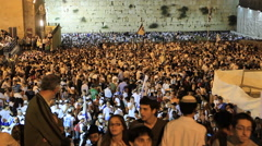 People Celebrate during Jerusalem Day - stock footage