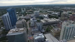Aerial view of downtown Fort Lauderdale. Florida. Drone Stock Footage