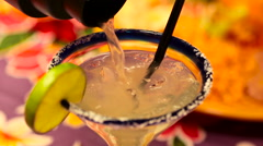 Pouring Margarita Cocktail Stock Footage