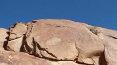 Mt. Sinai Rock Face at Sunrise Stock Footage