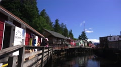 Creek Street, Ketchikan, Alaska, tilt Stock Footage