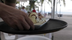 Local Desert Served in Downtown, Puerto Vallarta, Jalisco, Mexico, North America Stock Footage