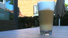 Morning  latte macchiato Stock Footage