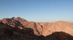 Mt. Sinai Sunrise Stock Footage