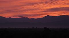 View inland at Sunrise, Nuevo Vallarta, Nayarit, Puerto Vallarta, Mexico, North Stock Footage