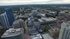Aerial view of Fort Lauderdale, Florida. office buildings and streets Stock Footage