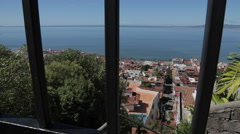 View over Downtown, Jalisco, Puerto Vallarta, Mexico, North America - stock footage