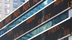 Stock market ticker, close up Arkistovideo
