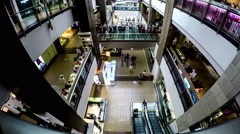 The customers wander at Peace Square shopping mall in Dalian, China. Stock Footage