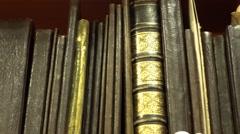 Very Old Bookshelf - stock footage