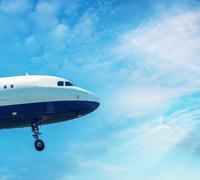 PISA, ITALY - AUG 25, 2015: British Airways airplane lands in Pisa airport on - stock photo