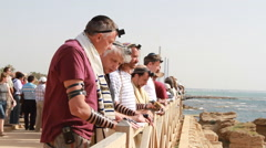 Jewish Men Pray Together Stock Footage