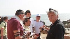 Jewish Men Pray Together Stock Footage