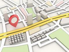 Road Map - stock illustration