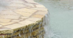 Water Fountain - Park - Close Up of Edge - 4k Stock Footage
