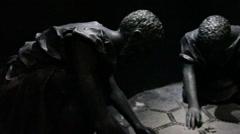 Sculpture of Ancients at Masada, Israel Stock Footage