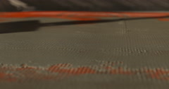 Construction. Man plasters construction netting. Close up. - stock footage