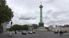 The July Column (in 4k), Place de la Bastille, Paris, France. Stock Footage