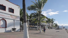 Naval Museum on Promenade, Downtown, Puerto Vallarta, Jalisco, Mexico, North - stock footage