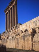 Corinthian Columns at Baalbek - stock photo