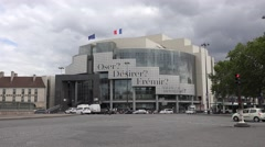 The Bastille Opera House (in 4k) in Paris, France. Stock Footage