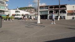 Promenade, Downtown, Puerto Vallarta, Jalisco, Mexico, North America Stock Footage