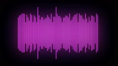 Violet equalizer abstract - stock footage