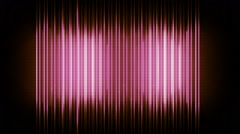 Red equalizer abstract - stock footage