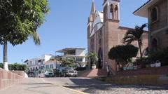 Traffic on Tepic - Puerto Vallarta, Downtown, Puerto Vallarta, Jalisco, Mexico, Stock Footage