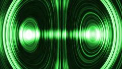 Magnified green equalizer - stock footage