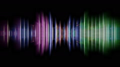 Colorful equalizer abstract Stock Footage