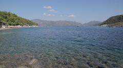 Beach, Trees & Aegean Sea Iclemer, Marmaris, Anatolia, Turkey Stock Footage