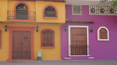 Colourful Houses, Downtown, Puerto Vallarta, Jalisco, Mexico, North America Stock Footage