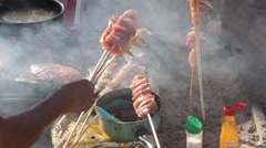 Beach BBQ, Downtown, Puerto Vallarta, Jalisco, Mexico, North America Stock Footage