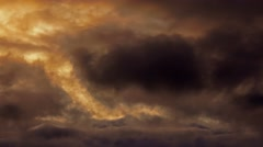 Moody atmospheric stormy fiery sky Arkistovideo