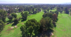 4K, Aerial  view and Panorama of Golf Course in Los Angeles, California Arkistovideo