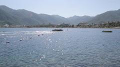 Beach & Aegean Sea Iclemer, Marmaris, Anatolia, Turkey Stock Footage
