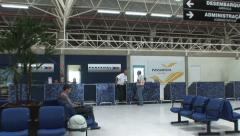 Airport, small city. Brazil. Zoom Out Stock Footage