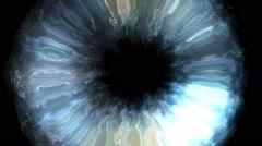 Fancy human eye - stock footage