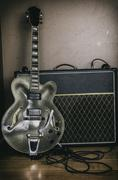 Guitar and Amplifier Vintage 1 - stock photo