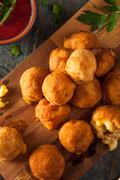 Fried Mac and Cheese Bites Stock Photos