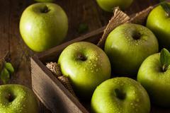 Green Granny Smith Apple - stock photo