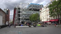 The Centre Georges Pompidou (in 4k), Paris, France. Stock Footage