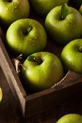 Green Granny Smith Apple Stock Photos