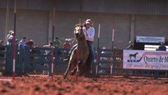 Rodeo, Horse, competition, woman Stock Footage