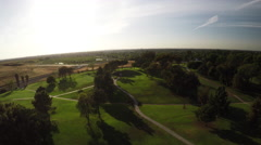 4K Aerial golf course scenes in SoCal. Stock Footage