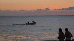 Beach Scene at Sunset, Nuevo Vallarta, Nayarit, Puerto Vallarta, Mexico, North Stock Footage
