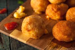 Fried Mac and Cheese Bites - stock photo