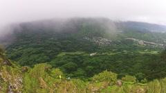 Hawaii hiking lifestyle aerial. - stock footage
