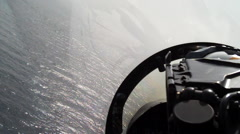 Fighter jet lands, POV. Stock Footage
